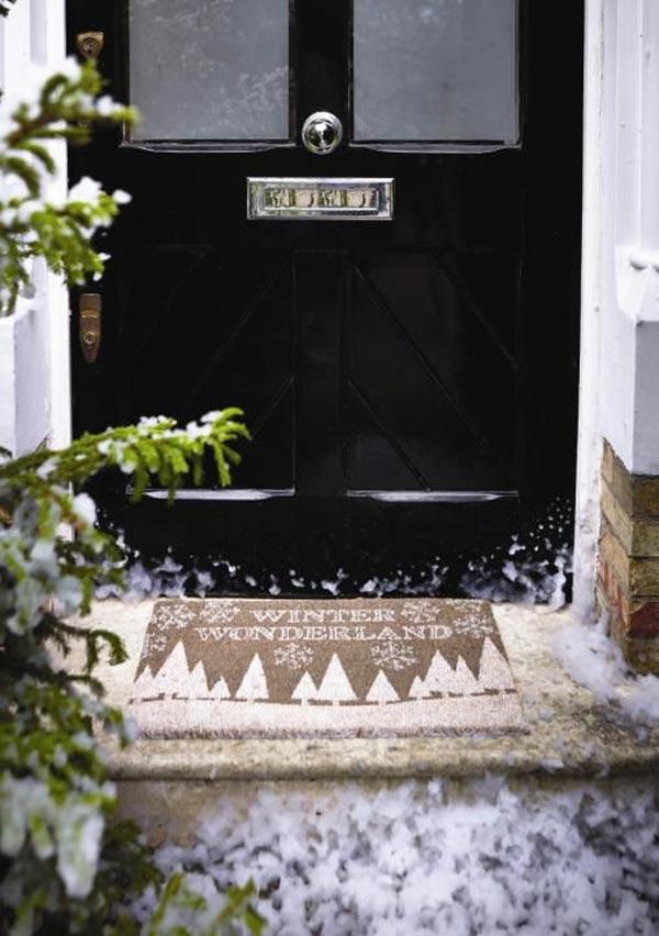 Winter Cottage Christmas Door Mat 8f011
