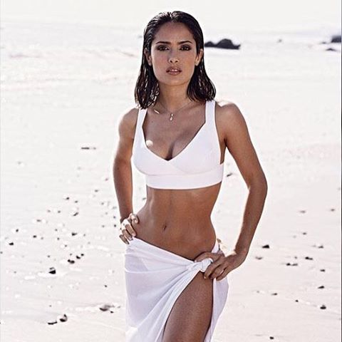 salma hayek white bikini instagram from 2007 8fac5