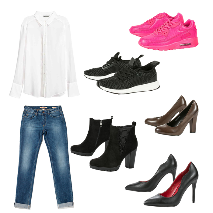 6ec9c1be6114 Λευκό πουκάμισο   τζιν παντελόνι  Δοκίμασε το look με 10 ...