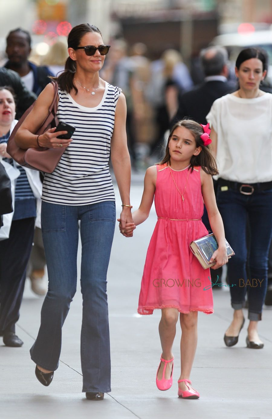 Katie Holmes Suri Cruise Out in the City on Suris Birthday