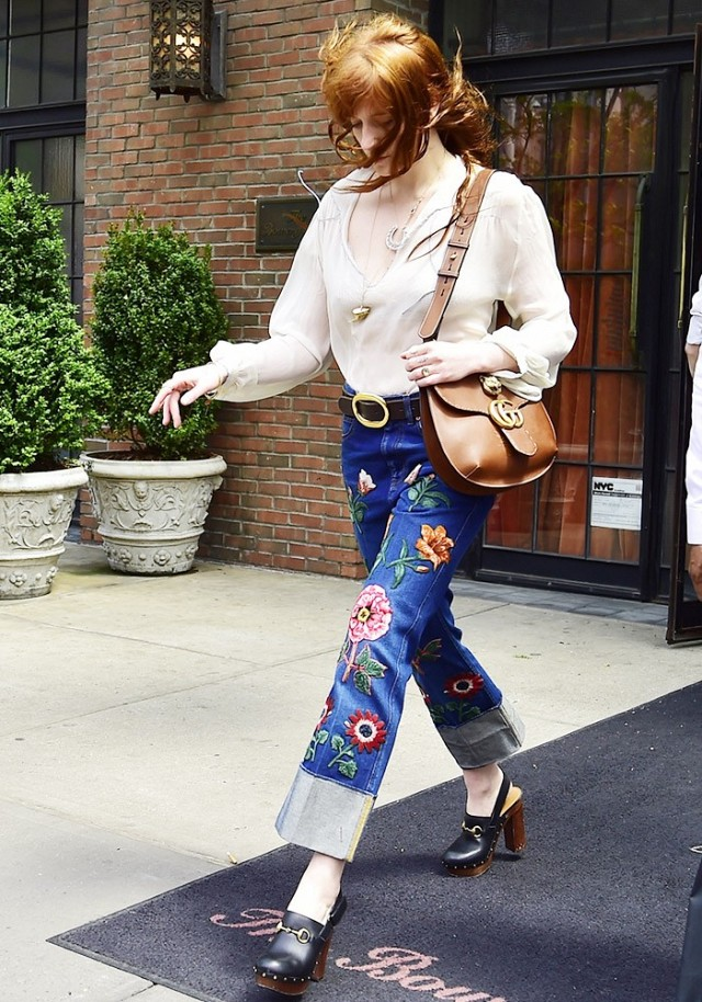 florence welch wore the patchwork pants we want to wear all spring 1767441 1463083717.640x0c