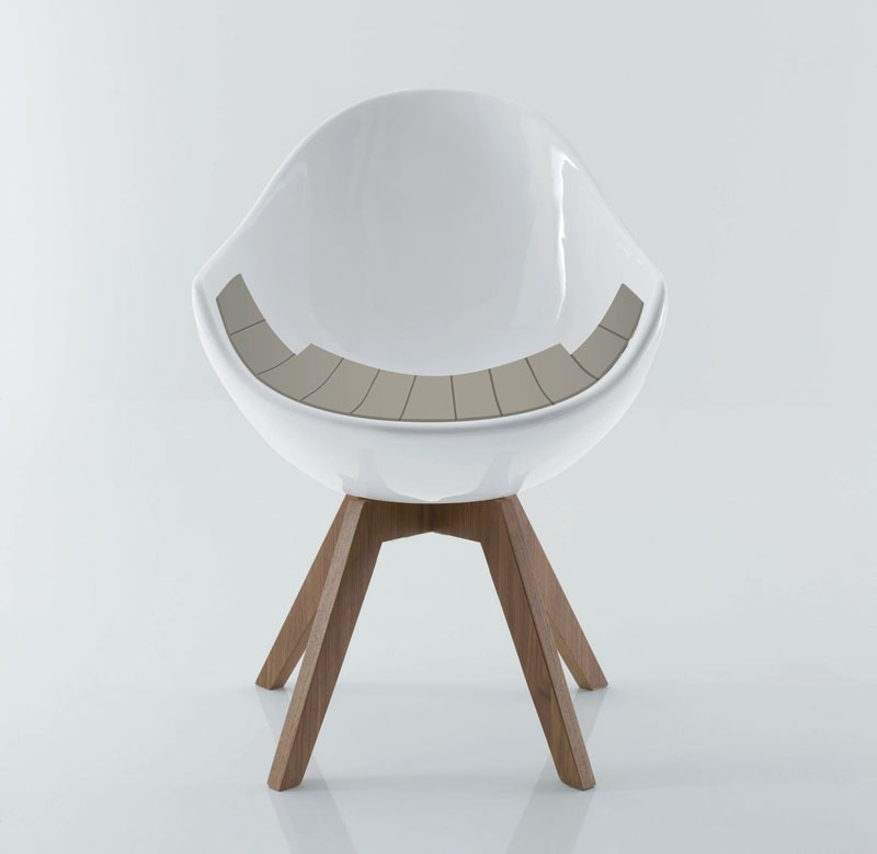 egg shaped jane chair creates statement 3 seat