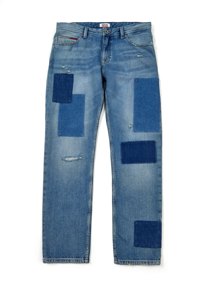 DW0DW02991911 StraightCroppedLunaPatchjeans