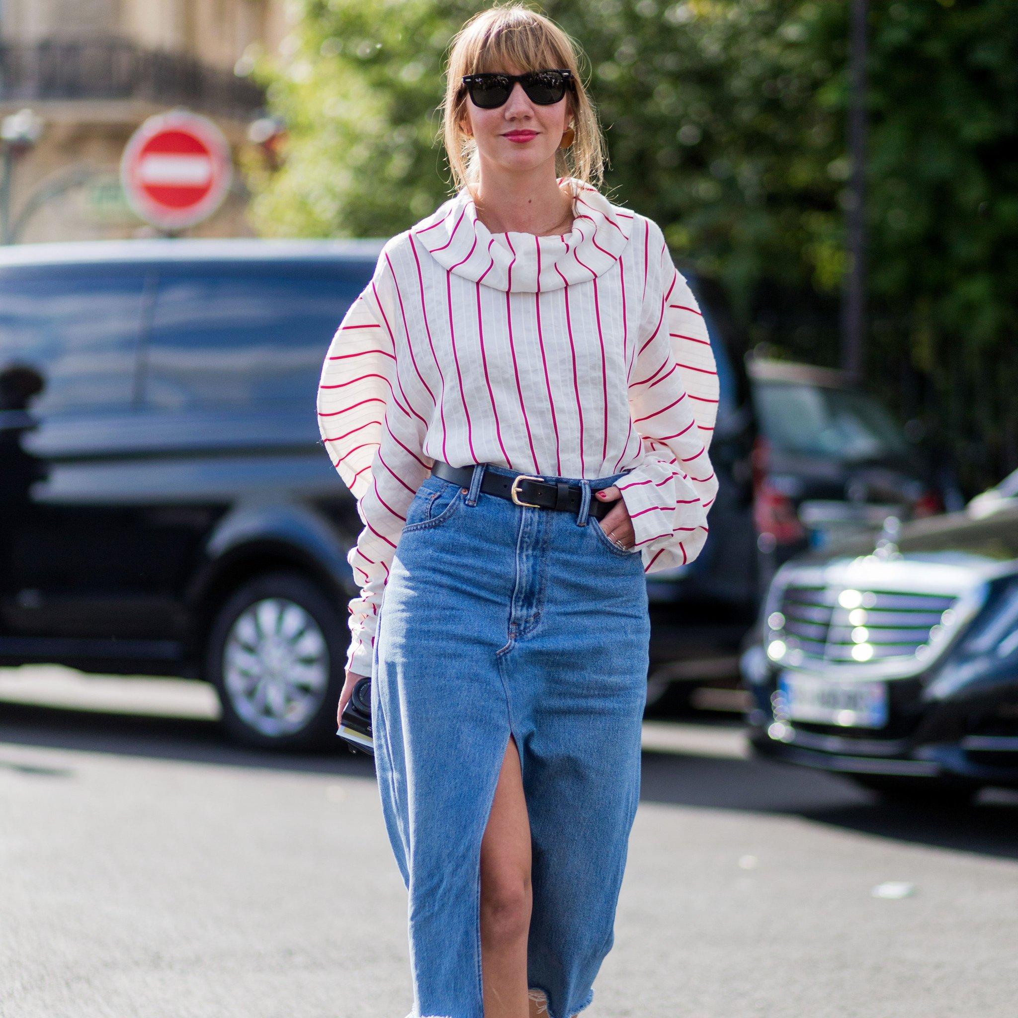 How Style Denim Skirt