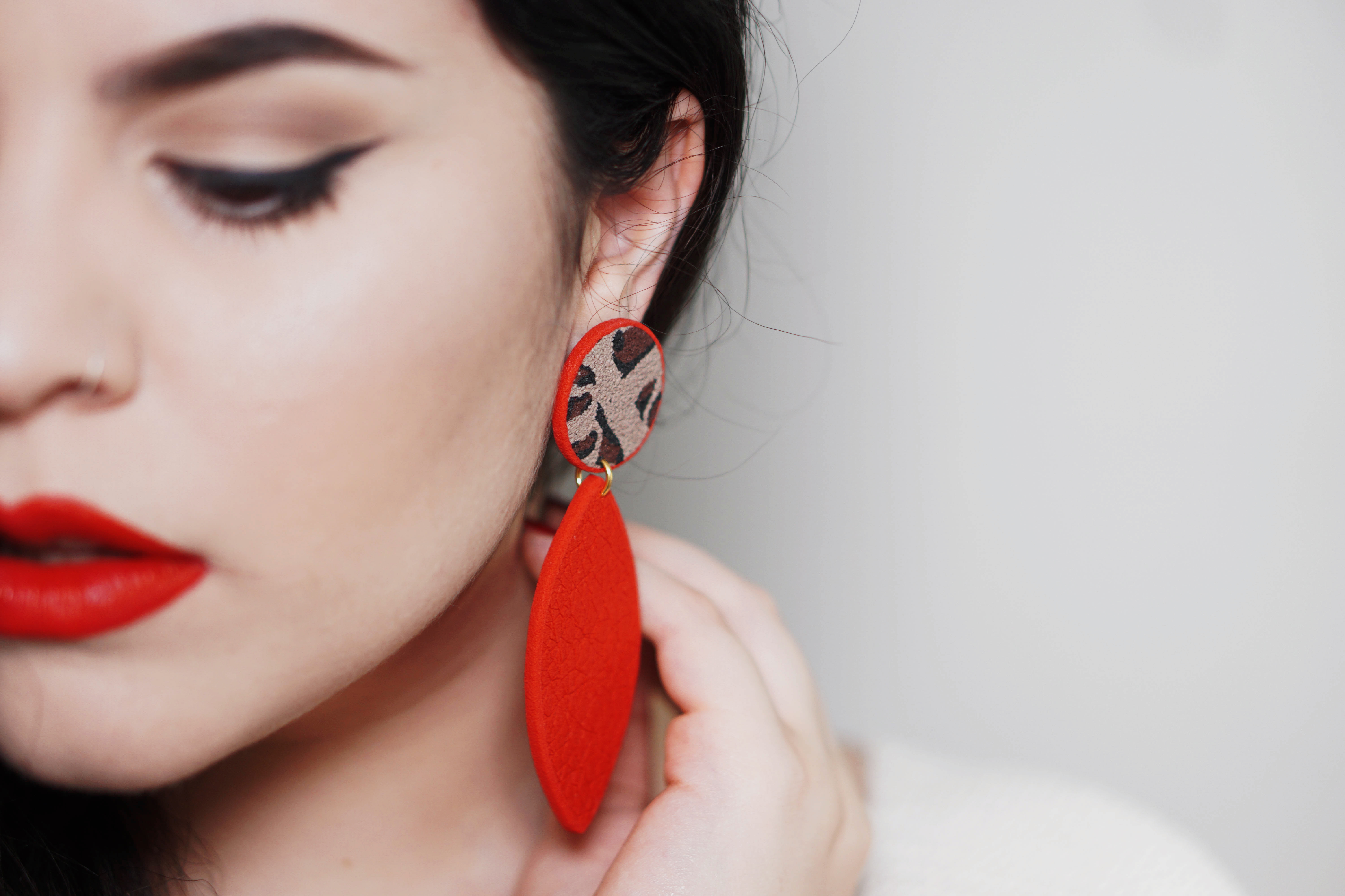 LimeLight jewelry collection by Katerina Sfinari eccentric fashion leopard earrings