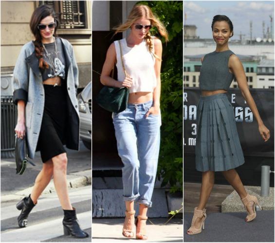46c989fe6e8d Hot trend  Cropped Tee. Πώς να φορέσεις το κοντό μπλουζάκι! - Queen.gr
